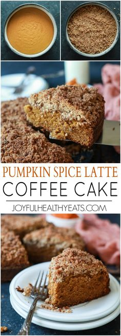 A family recipe that you need in your arsenal this fall! Pumpkin Spice Latte Coffee Cake, moist, loaded with pumpkin spice flavor with a touch of espresso for the best bite. Starbucks has nothing on this cake! | joyfulhealthyeats.com #recipe #fall