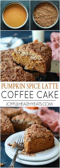 Pumpkin Spice Latte Coffee Cake | joyfulhealthyeats.com | #recipe #fall #comfortfood #dessert #breakfast #starbucks #coffeecake #pumpkin #delicious #nomnom