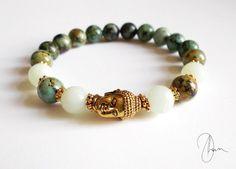 Buddha Bracelet w/ Amazonite