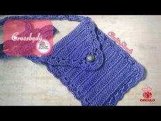 Crossbody Bolsa em Crochê por Claudete Azevedo - YouTube