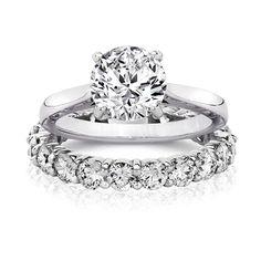 1 0 Ct Round 14k Wedding Set Pave Engagement Rings Under 1000