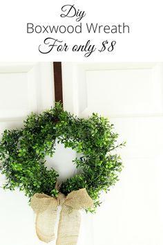 DIY Boxwood Wreath f