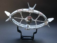 I cannot pass greatly built spaceship when i see one. That is the case with this creation by GolPlaysWithLego which is loosely inspired by Odysseus, iconic starship from Ulysse 31 – Freanch/Japanese TV serie from the 80's.  I love the unusual rounded shape and some small details that make this MOC shine.