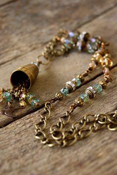 Diy Jewelry, Vintage Jewelry, Fashion Jewelry, Jewelry Ideas, Beautiful Necklaces, Beaded Bracelets, Cellar, Boho, Thimble