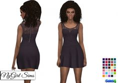 Strapless Dress with Lace Tank Overlay in Solids at NyGirl Sims via Sims 4 Updates Sims 4 Dresses, Formal Dresses, Lace Dress, Strapless Dress, Sims 4 Clothing, Sims 4 Update, Sims 4 Mods, Sims Cc, Lace Tank
