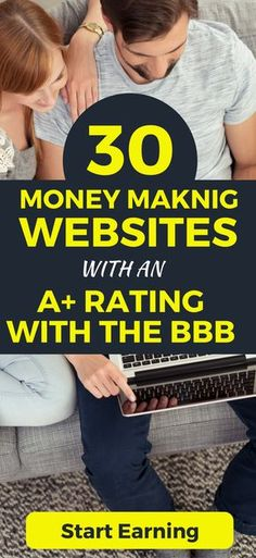 Make money online, fast and from home. CHECK OUT these money making websites which have an A+ rating with the BBB.