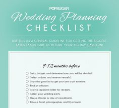 For when you need a start-to-finish to-do list: | 17 Useful Wedding Cheat Sheets For Any Bride-To-Be