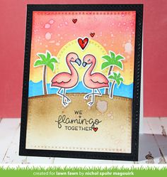 Lawn Fawn Intro: Flamingo Together, Cross-Stitched Stackables, New Ink!