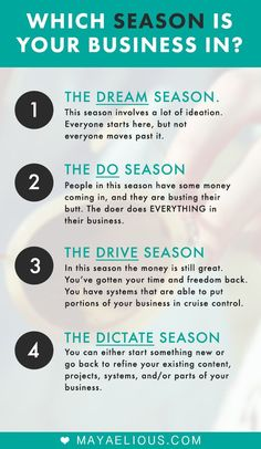 Which season is your business in? How to stop playing it safe + elevate to the next season in your business.