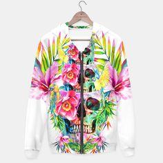 Skull Tower  / #woman #fashion #design #art #digital #flowers #skull #parrots #tropical