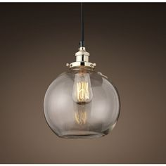20th C. Factory Filament Clear Glass Café Pendant ($129) ❤ Liked On  Polyvore · Restoration Hardware LightingHome ...