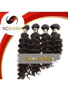 $232.00--Wholesale Mix Length 4pcs-12-26 Inch 5A Deluxe Deep Wave 100% Brazilian Virgin Remy Human Hair Weft 100g/pcs [BHV114]