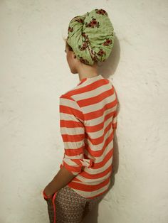 Lazy retro style, turban and slouchy jumpers Clothes Casual Outift for Looks Style, Style Me, Retro Style, Marine Look, Inspiration Mode, Pattern Mixing, Mode Outfits, Fashion Outfits, Head Wraps