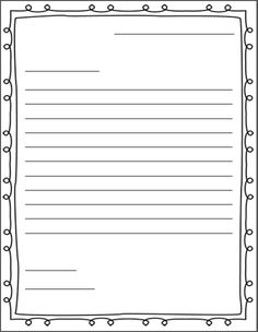 Letter writing services paper printable friendly