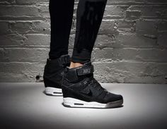 Can't wait for this weather to break so I can bust these!!  #stillinthebox lol...#Nike Air Revolution Sky Hi Noir