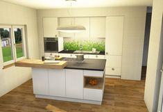 Küche-Kücheninsel-Planung