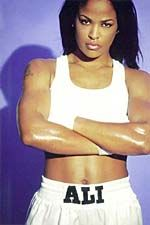 Laila Ali. Fierce and beautiful. Rocking her all white boxing gear