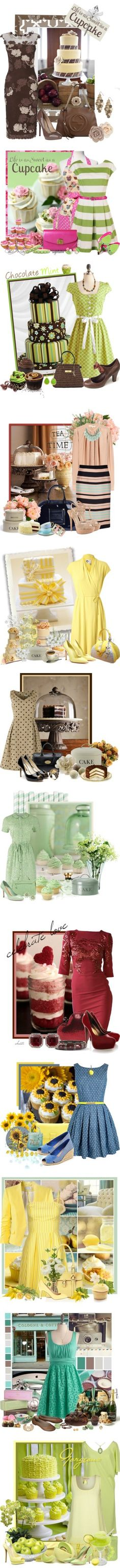 """""""life is short eat cake"""" by countrycousin ❤ liked on Polyvore  The yellows & the greens"""