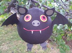 Bat Pinata.  Halloween Pinata by PinataPals on Etsy