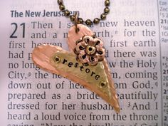 Human Trafficking Awareness Necklace by lynnmackin on Etsy, $21.00