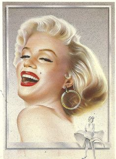 Marilyn Monroe portraits -  Artist unknown. From a post card printed in the 1980s.