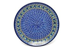 Polish Pottery Plate  10 Dinner  Peacock Feather *** Locate the offer simply by clicking the pottery image