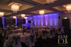 Purple wedding lighting at Easts Leagues Club   G&M DJs   Magnifique Weddings #gmdjs #magnifiqueweddings #weddinglighting #eastsleaguesclub @gmdjs