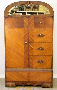 Art Deco Mirrored Chest Of Drawers Triple Fronted Commode | Mirrored Chest  Drawers | Pinterest | Art Deco Mirror, Drawers And Art Deco