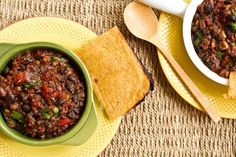 New Year's Smoky Bbq Chili with Flat & Crispy Cornbread by Oh She Glows