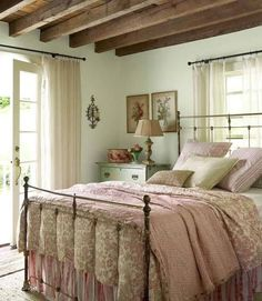 Would love more with less Victorian vibe. Love the beams and the aged dresser