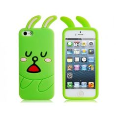 Green Bunny Soft Silicone iPhone 5 Case
