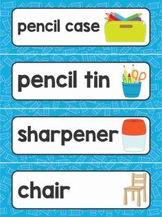 Classroom Word Wall, Modern Classroom, Classroom Labels, New Classroom, Preschool Classroom, Classroom Themes, Classroom Organization, English Classroom, Preschool Learning