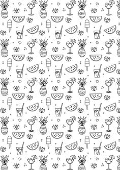 FREE printable summer coloring page | #blackandwhite #summeractivity