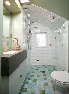 Cozy Contemporary Bathroom by Jon Crabtree on HomePortfolio