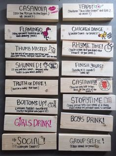 Ideas for backyard party games adults giant jenga - Spiel Teen Party Games, Sleepover Games, Birthday Party Games, Party Games For Adults, Sleepover Party, Birthday Gifts, Jenga Drinking Game, Drinking Games For Parties, Drunk Jenga