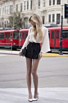 www.prontaevestida.com street style preto branco fashion black white b&w looks