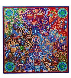 Oil Painting Frames, Yarn Painting, Huichol Art, Cactus, Indian Artist, Mexican Folk Art, Art Oil, Art Inspo, Concept Art