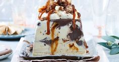 Caramel fans will adore our amazing salted caramel crunch ice-cream cake!