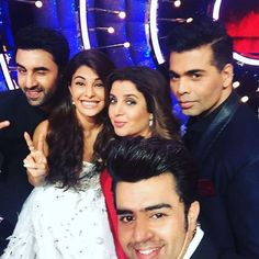 JDJ gets Hotter!! Ranbir promotes ADHM with KJo; Poses for selfie with Jacquline, Farah & Manish