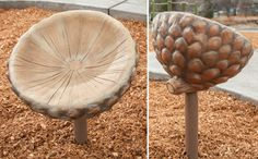 Spinning acorn seat for Westside play area