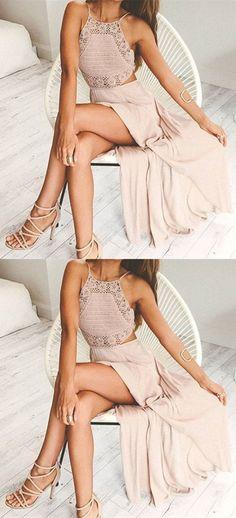 sexy prom dresses,pink prom dresses,split prom dresses,chiffon prom dresses,cheap prom dresses @simpledress2480