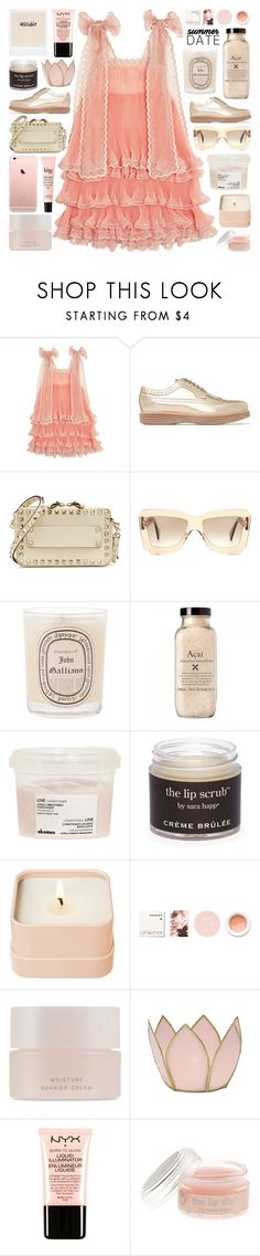 """""""Sometimes, I don't know what's real or fake, or who I am"""" by pure-and-valuable ❤ liked on Polyvore featuring Chloé, Church's, Valentino, Roksanda, Diptyque, Davines, Sara Happ, Henri Bendel, Korres and SUQQU"""
