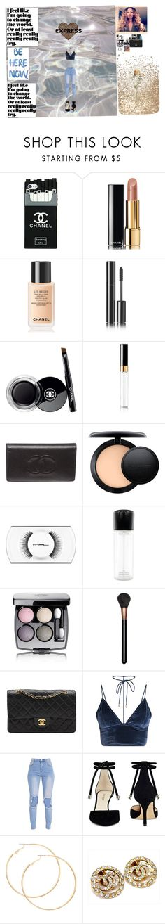 """Untitled #149"" by gorgeouslee ❤ liked on Polyvore featuring Chanel, MAC Cosmetics and Nine West"