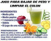 Jugo para bajar de peso y limpiar el colon  #Nutrición y #Salud YG > nutricionysaludyg.com