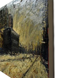 Title:THAT UNDERLIES Dimensions:40 by 1.5 in. (71.2 by 101.6 cm by 3.8 cm.) Medium:Oil paint Substrate:stretched canvas Catalogue:e342 Date:2009 #Oil #Painting #Modern #Canvas #Original #Impressionist #Realism #Outsider #Expressionist #Acrylic