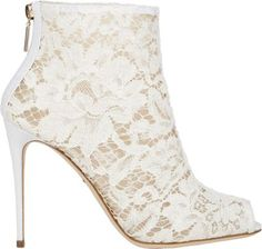 Shop for floral lace booties by Dolce & Gabbana at ShopStyle. White Lace Boots, White Ankle Boots, Peep Toe Ankle Boots, Floral Boots, Floral Lace, Stiletto Boots, White Heels, Short Heel Boots, Sexy Boots