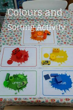 If you are struggling to teach your child the colours then take a look here for some help. A great learning colours activity. Colour Activities Eyfs, Nursery Activities, Sorting Activities, Infant Activities, Learning Activities, Activities For Kids, Crafts For Kids, Kinesthetic Learning, Rainbow Activities