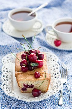I pinned this like 20 minutes ago. Why has no one made this for me yet? :D   Bing Cherry Pound Cake and Afternoon Tea