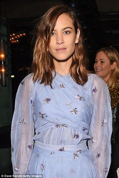 The author and fashion designer (pictured), looked just as beautiful in a frilly duck-egg blue dress Duck Egg Blue Dress, Daisy Lowe, Jenna Coleman, Erdem, Alexa Chung, Chef Jackets, Author, Fashion Design, Beauty