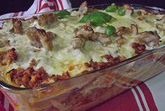 Retete Culinare -                         Paste cu piept de pui,ciuperci şi sos de brânzeturi